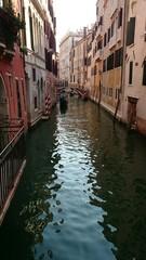 Kanal in Venedig Gondel