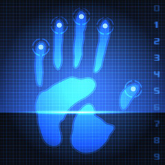 hand print scanner