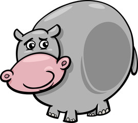 hippopotamus animal cartoon illustration