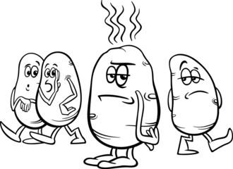 hot potato saying coloring page