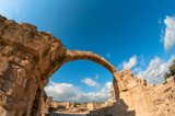 Saranta Kolones, a ruined medieval fortress. Paphos, Cyprus