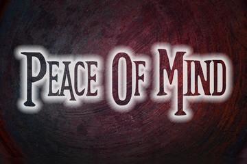 Peace Of Mind Concept