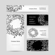 Business cards collection, floral wreath design
