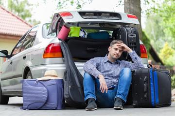Break in packing stuff for trip