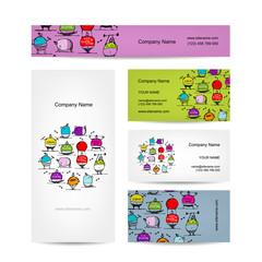 Set of business cards design, sport concept design