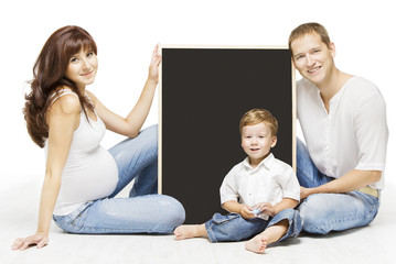 Family Advertising Blank Copyspace Board. Pregnancy Education