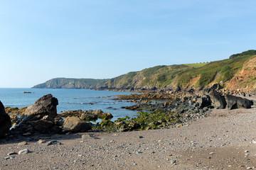 Coast and rocks at Kennack Sands Cornwall the Lizard