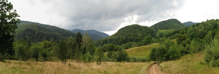Bihor carst mountains in Apuseni in Romania