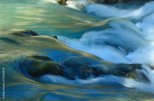 Foto op Aluminium Watervallen Colorful stream