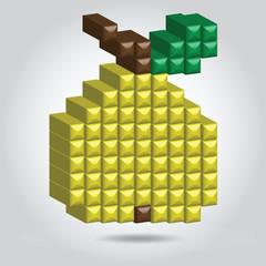 Vector pixel art