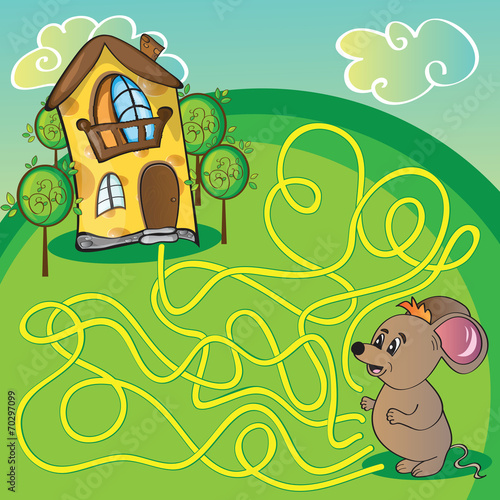Maze  with mouse - 70297099