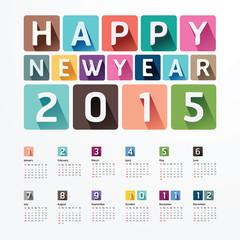2015 Calendar / 2015  Happy new year. Calendar  design. creative