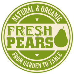 pears label