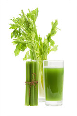 Celery juice with stalk