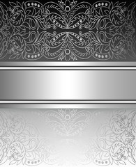 Stylish background silver  with tape design layout