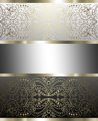 Stylish background silver and gold with tape design layout
