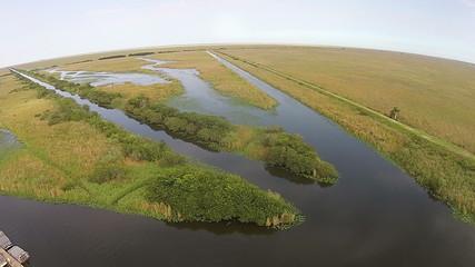 Florida Everglades wetlands aerial view