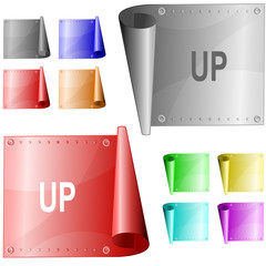 Up. Vector metal surface.