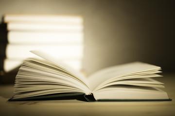 Книга на переднем плане