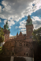 Towers of Wawel Castle in Krakow Poland