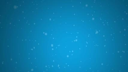 Snow on blue background