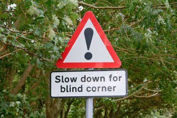 Warning sign - blind corner