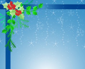 Blue Christmas border