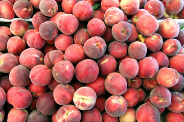 fresh organic ripe peaches