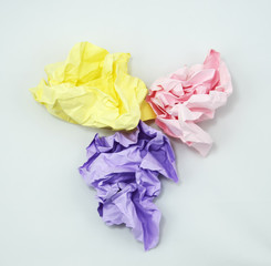 Crumpled Color Paper