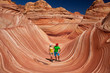 USA - tourists in the Coyote buttes recreational park - The wave