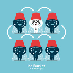 als ice bucket challenge concept vector illustration