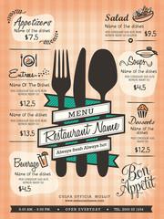 Restaurant Menu Design Template Layout