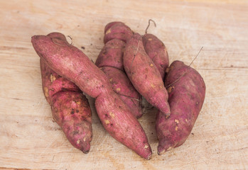 Heap of sweet potato