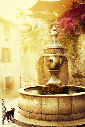 Naklejka art beautiful old town of Provence