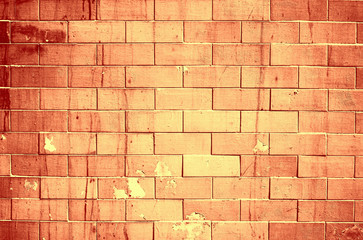 Copper color bricks wall texture background