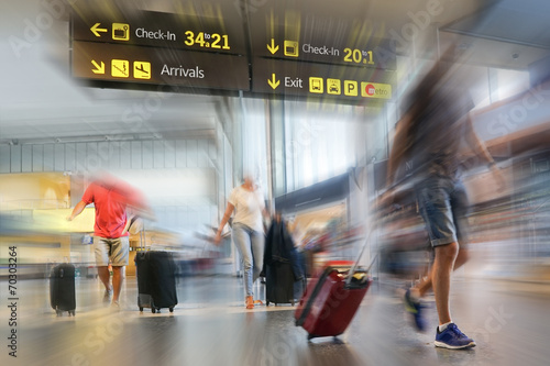 Leinwanddruck Bild Airline Passengers