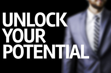 Unlock Your Potential written on a board