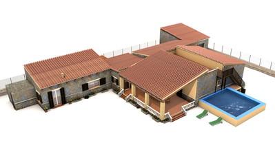 Casa rural 3d