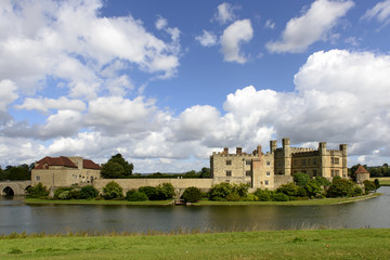east view of Leeds castle, Maidstone, England