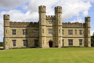 main facade of Leeds castle, Maidstone, England