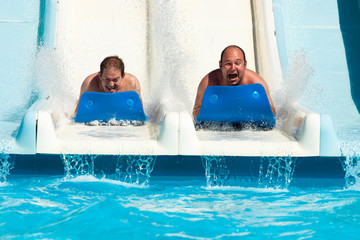People at water park