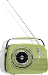 Retro Styled Portable Transistor Radio