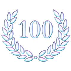 100 blau