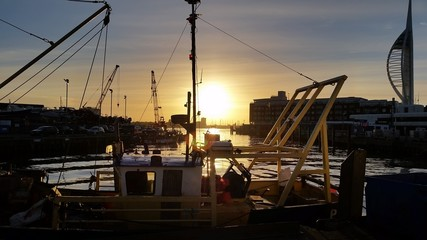 Sunset over Old Portsmouth Harbour