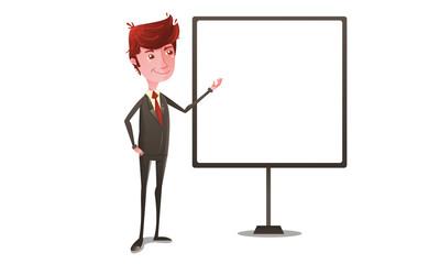 Businessman on presentation