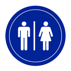 Restroom signs for men and women