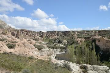 Magnificent rock landscape. Cappadocia.
