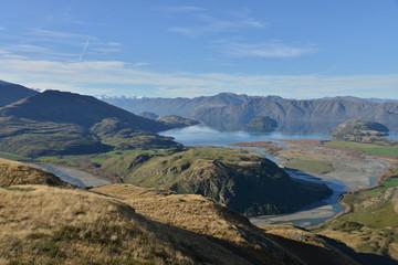 Lake Wanaka from summit of Rocky mountain, South Island