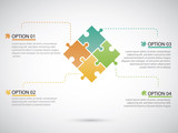 Fototapety Puzzle piece infographics business