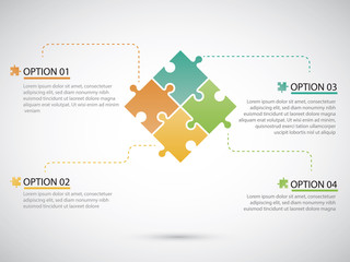 Puzzle piece infographics business